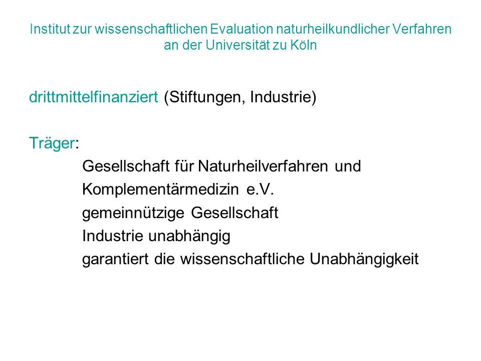 drittmittelfinanziert (Stiftungen, Industrie) Träger: