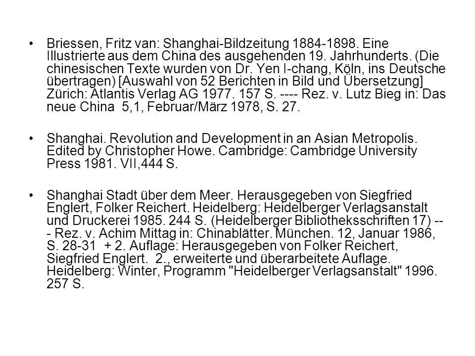 Briessen, Fritz van: Shanghai-Bildzeitung 1884-1898