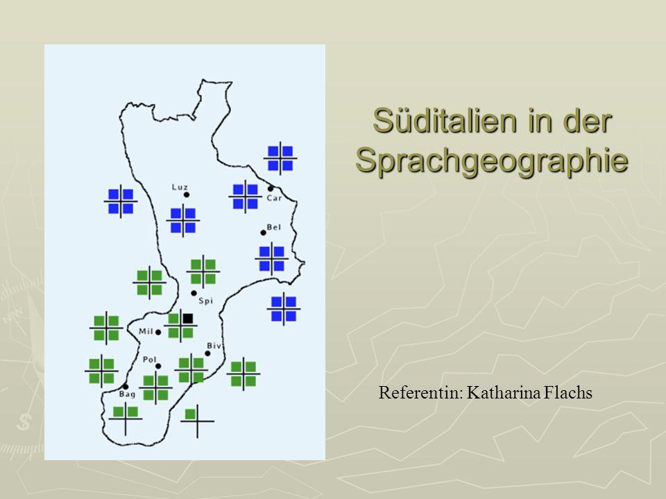 Süditalien in der Sprachgeographie