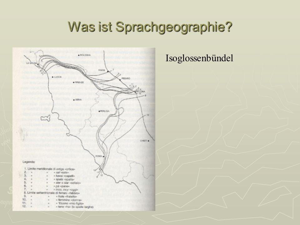 Was ist Sprachgeographie