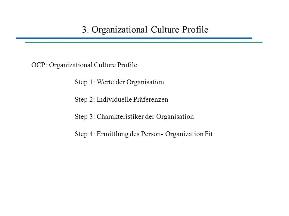 3. Organizational Culture Profile
