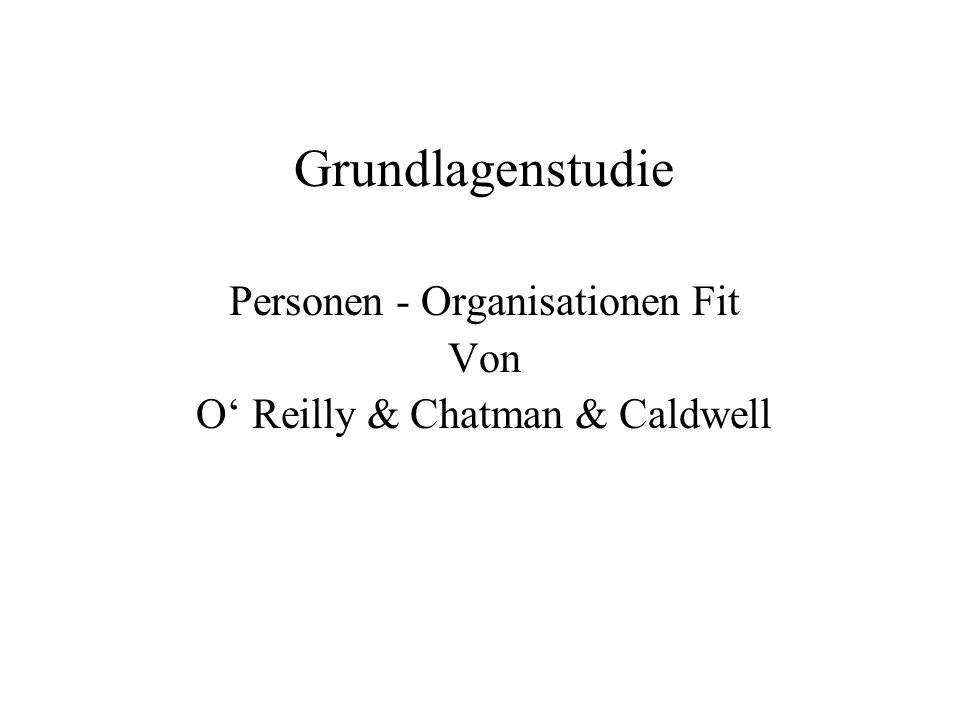 Grundlagenstudie Personen - Organisationen Fit Von