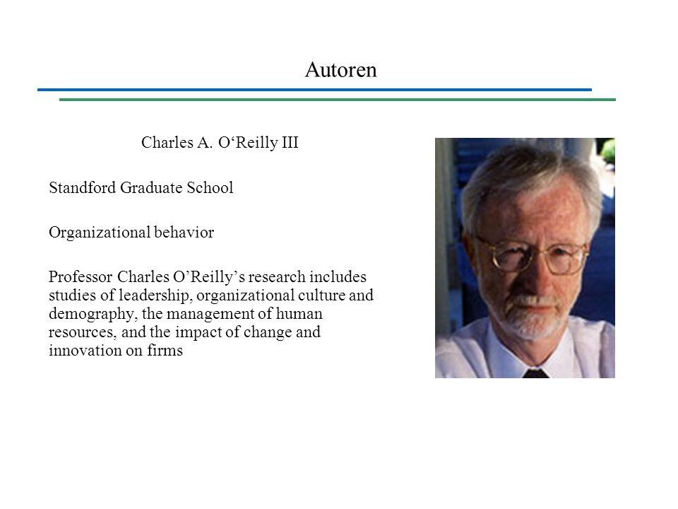 Autoren Charles A. O'Reilly III Standford Graduate School