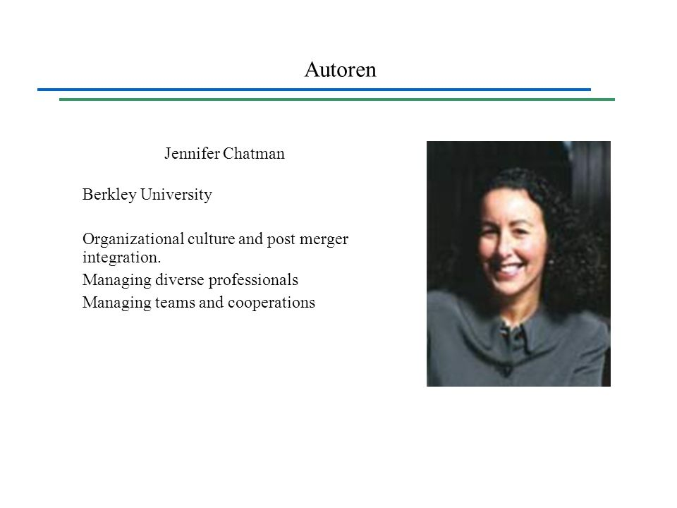 Autoren Jennifer Chatman Berkley University