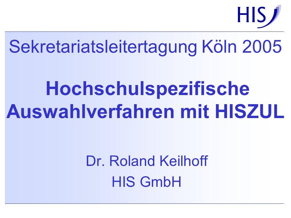 Dr. Roland Keilhoff HIS GmbH