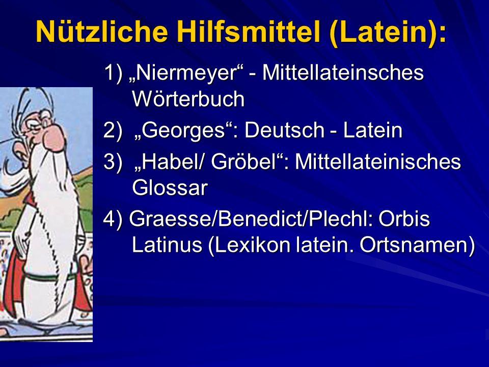 Nützliche Hilfsmittel (Latein):
