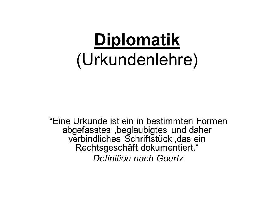 Diplomatik (Urkundenlehre)