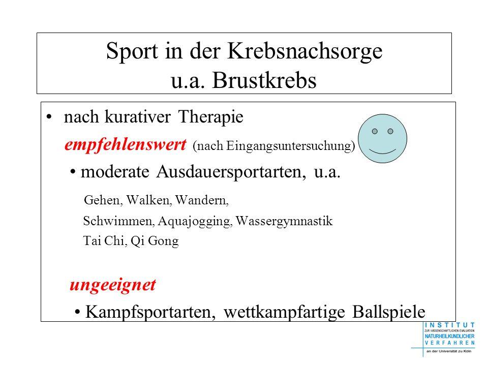 Sport in der Krebsnachsorge u.a. Brustkrebs
