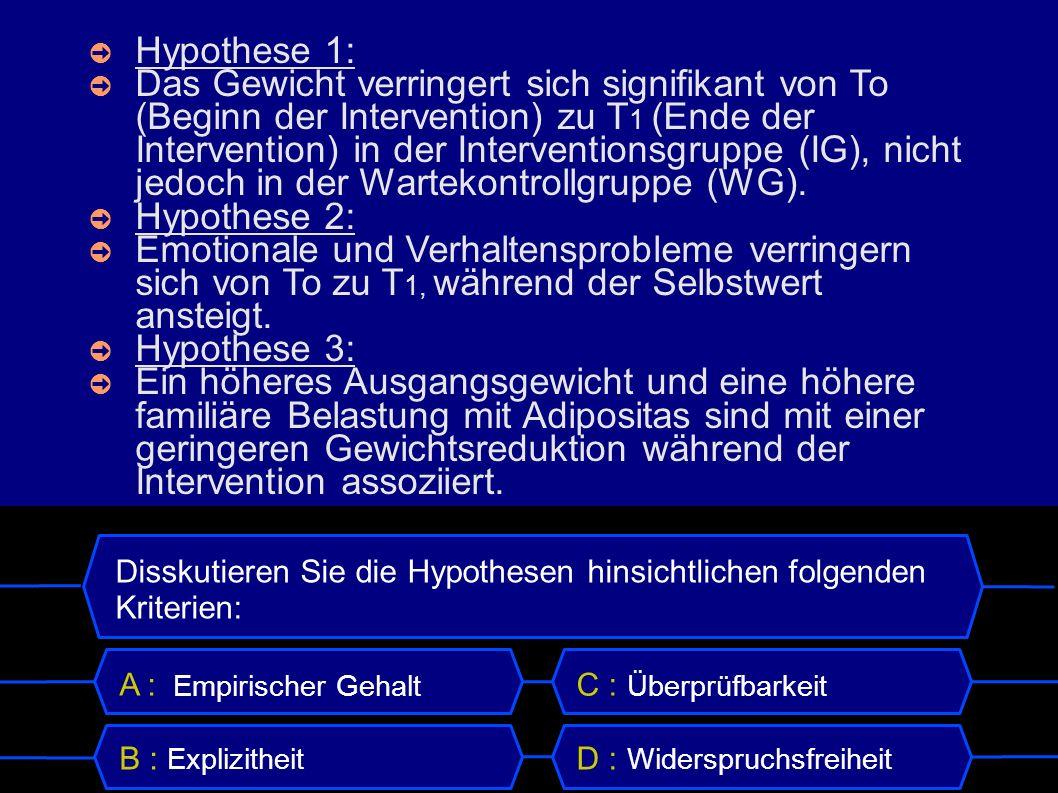 Hypothese 1: