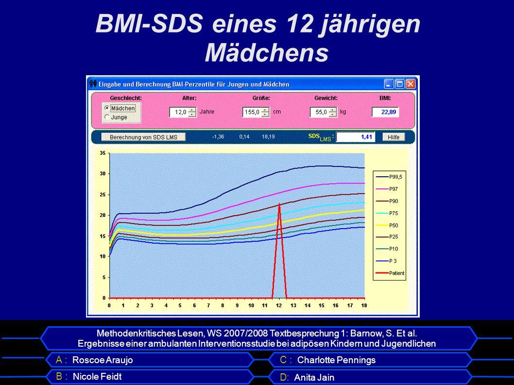 BMI-SDS eines 12 jährigen Mädchens