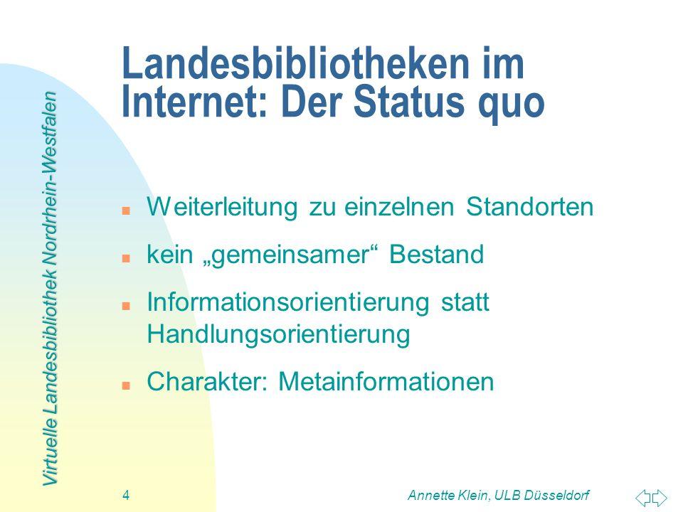 Landesbibliotheken im Internet: Der Status quo