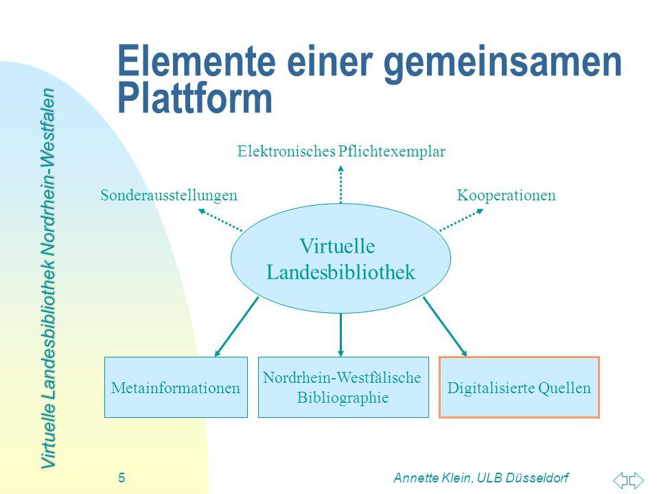 Elemente einer gemeinsamen Plattform