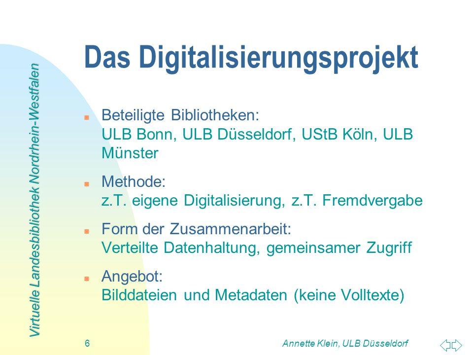 Das Digitalisierungsprojekt