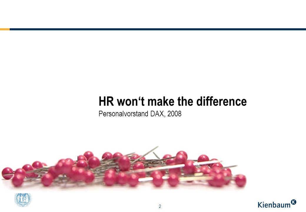 HR won't make the difference Personalvorstand DAX, 2008