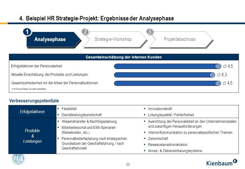 4. Beispiel HR Strategie-Projekt: Ergebnisse der Analysephase