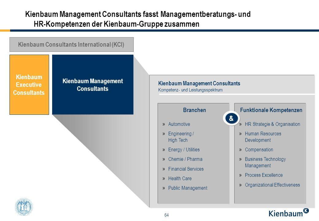 Kienbaum Management Consultants fasst Managementberatungs- und HR-Kompetenzen der Kienbaum-Gruppe zusammen