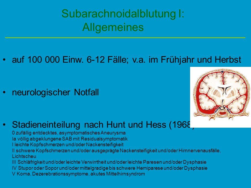 Subarachnoidalblutung I:
