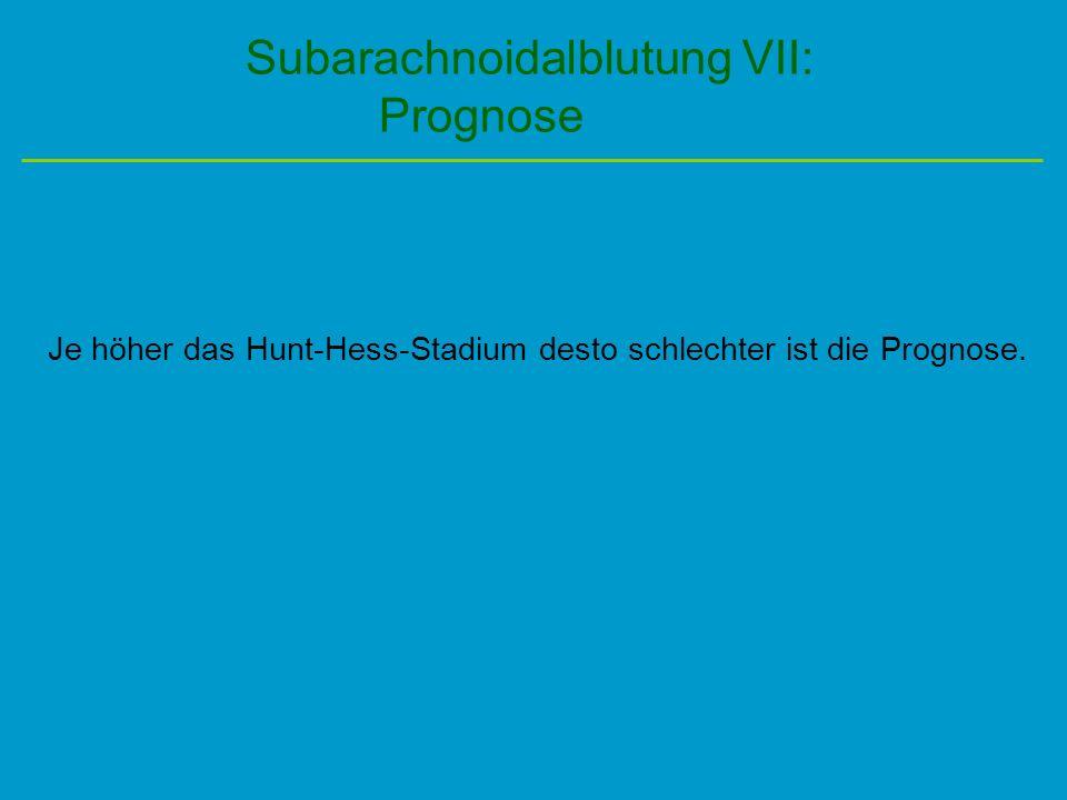 Subarachnoidalblutung VII: