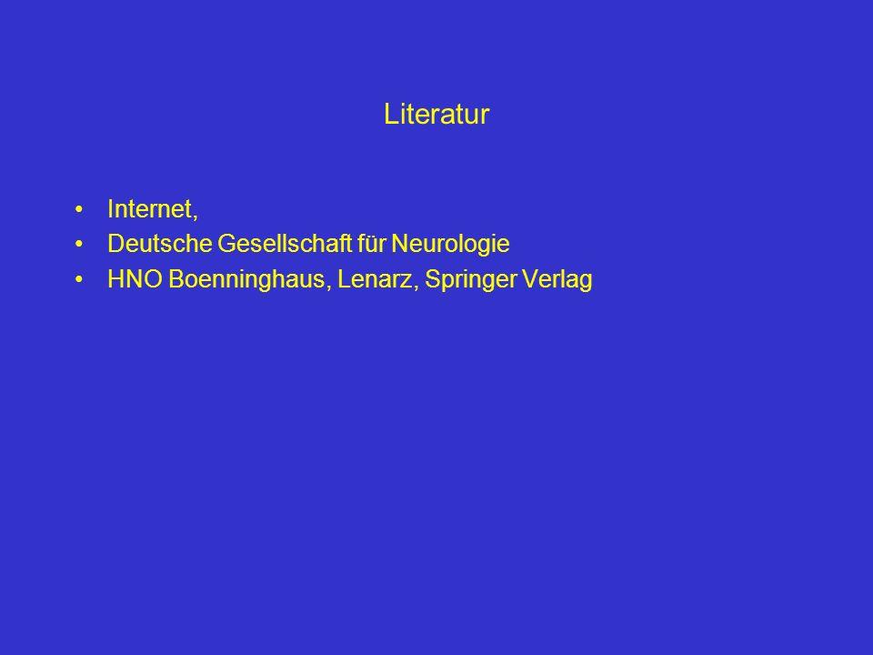 Literatur Internet, Deutsche Gesellschaft für Neurologie