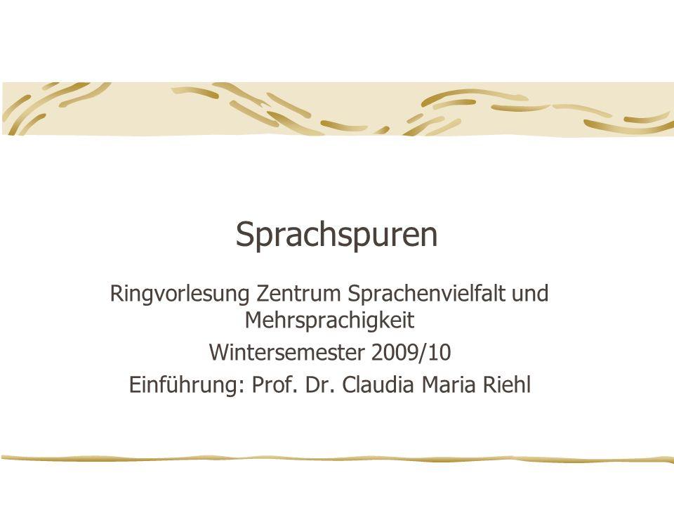 Sprachspuren Ringvorlesung Zentrum Sprachenvielfalt und Mehrsprachigkeit.