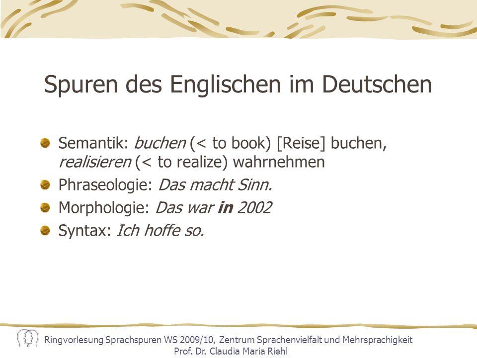 Spuren des Englischen im Deutschen