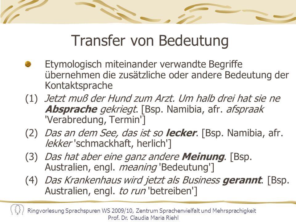 Transfer von Bedeutung