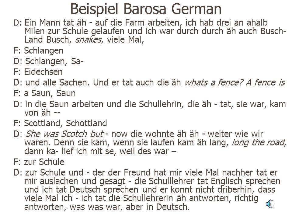 Beispiel Barosa German