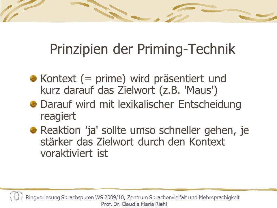 Prinzipien der Priming-Technik