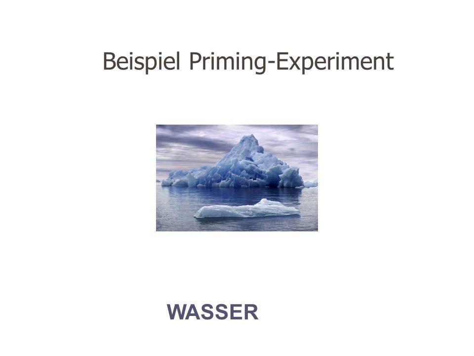 Beispiel Priming-Experiment
