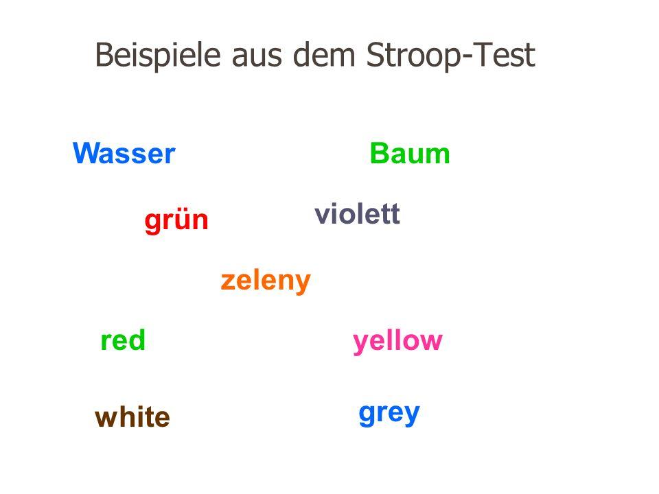 Beispiele aus dem Stroop-Test