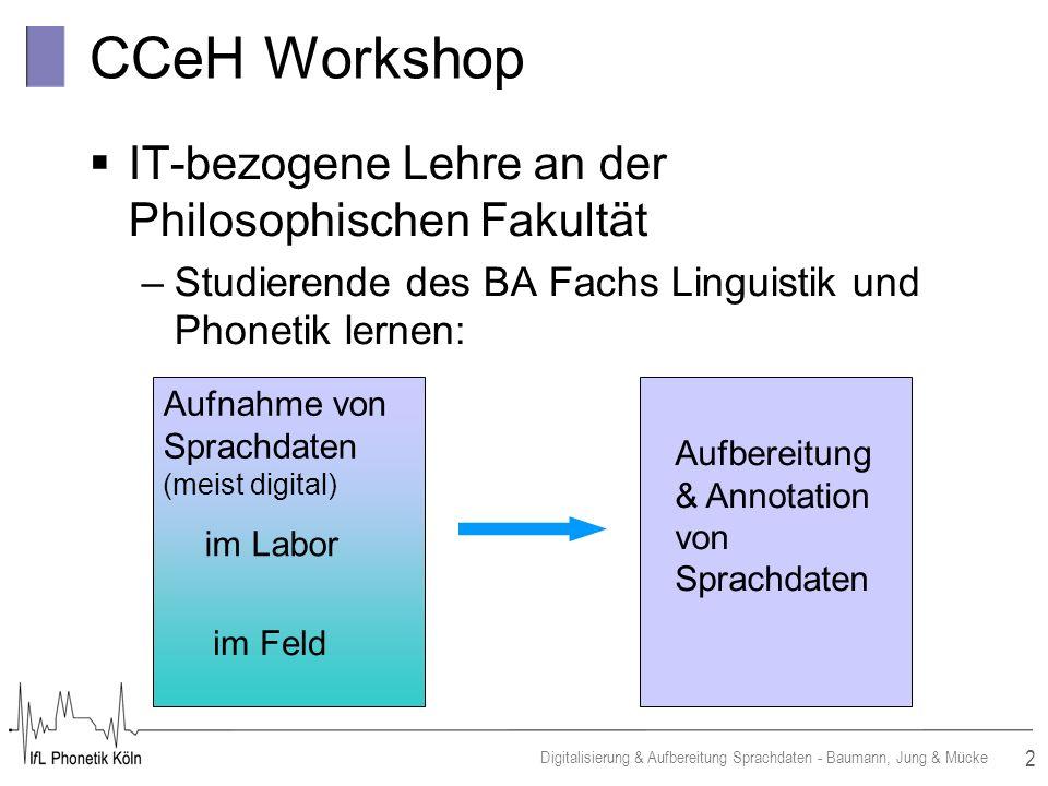 CCeH Workshop IT-bezogene Lehre an der Philosophischen Fakultät