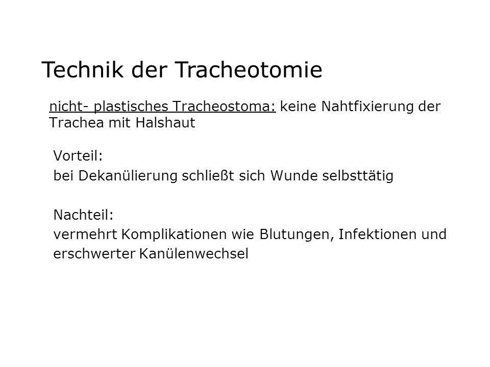 Technik der Tracheotomie
