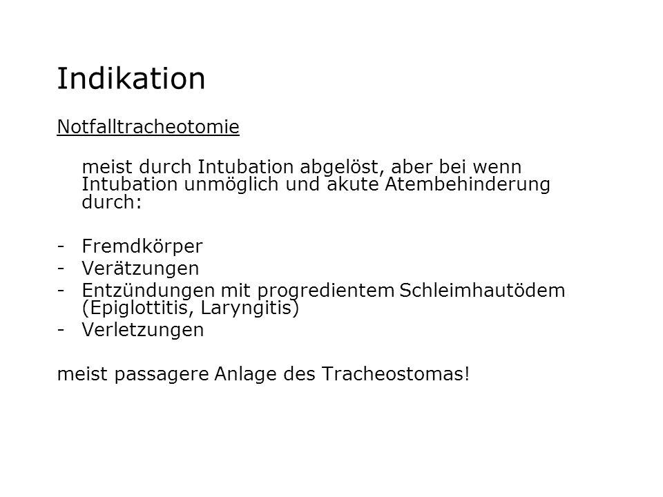 Indikation Notfalltracheotomie
