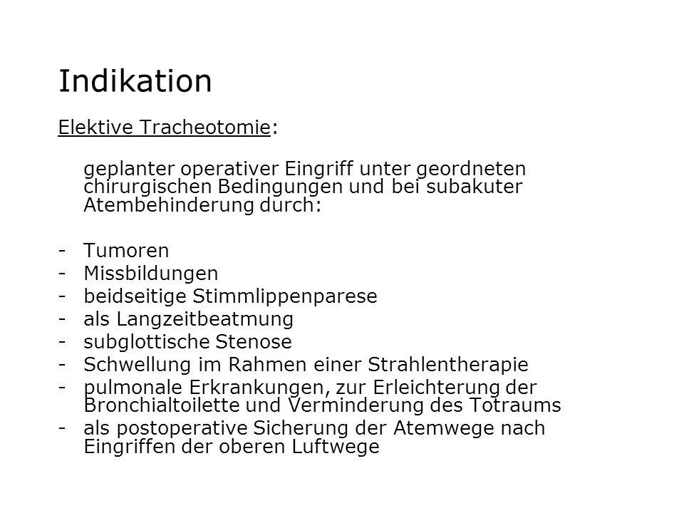 Indikation Elektive Tracheotomie:
