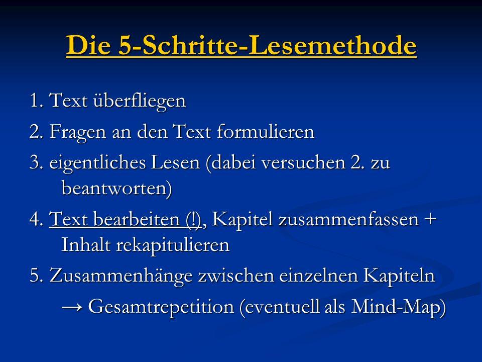 Die 5-Schritte-Lesemethode