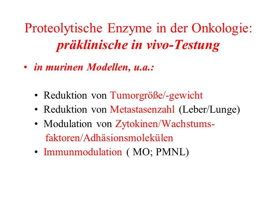 Proteolytische Enzyme in der Onkologie: präklinische in vivo-Testung