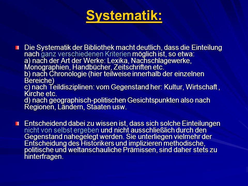 Systematik: