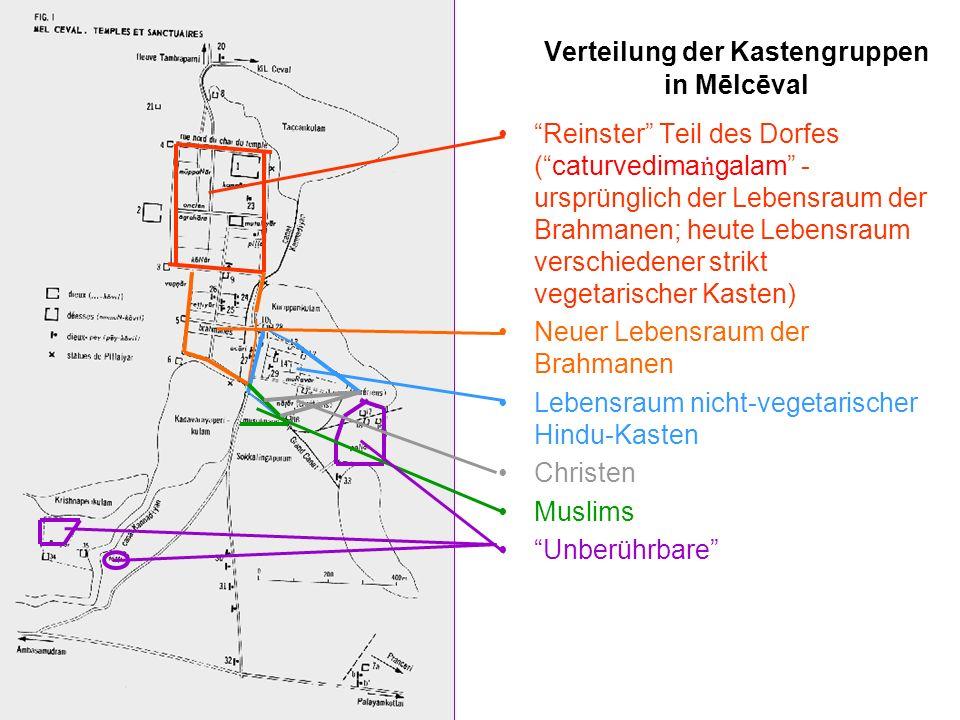 Verteilung der Kastengruppen in Mēlcēval