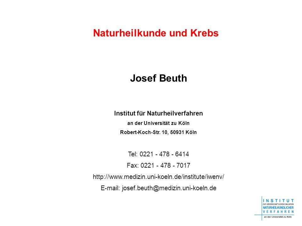 Naturheilkunde und Krebs Josef Beuth