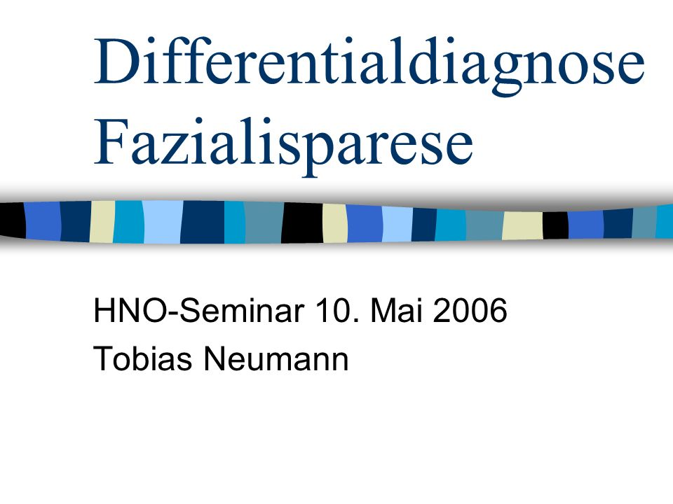 Differentialdiagnose Fazialisparese