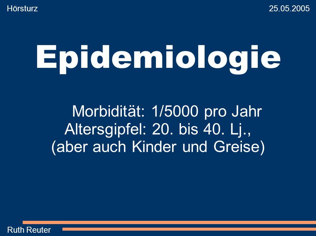Hörsturz 25.05.2005. Epidemiologie.