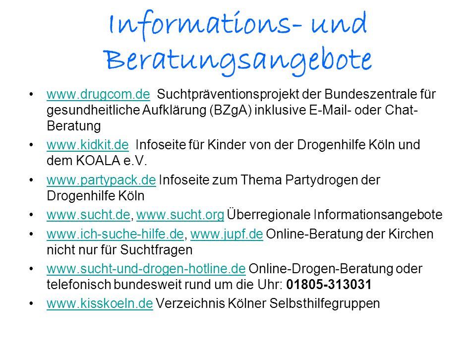 Informations- und Beratungsangebote