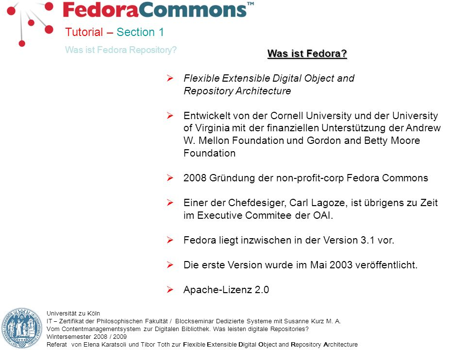 Tutorial – Section 1 Was ist Fedora
