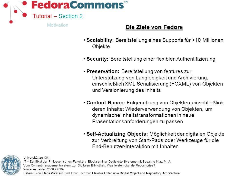 Tutorial – Section 2 Die Ziele von Fedora