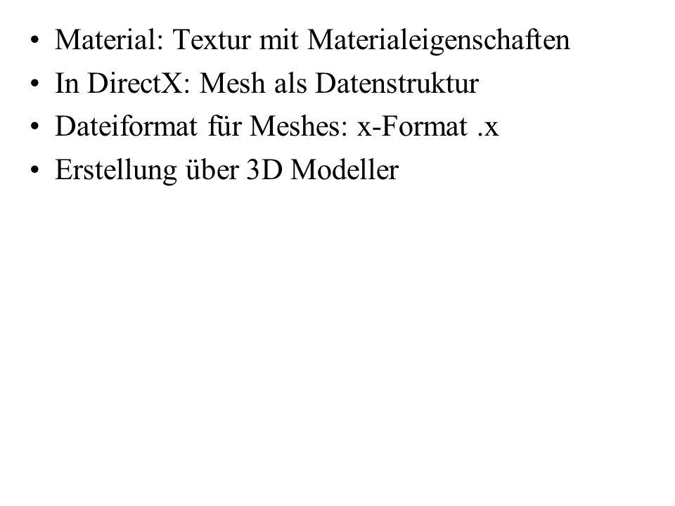 Material: Textur mit Materialeigenschaften