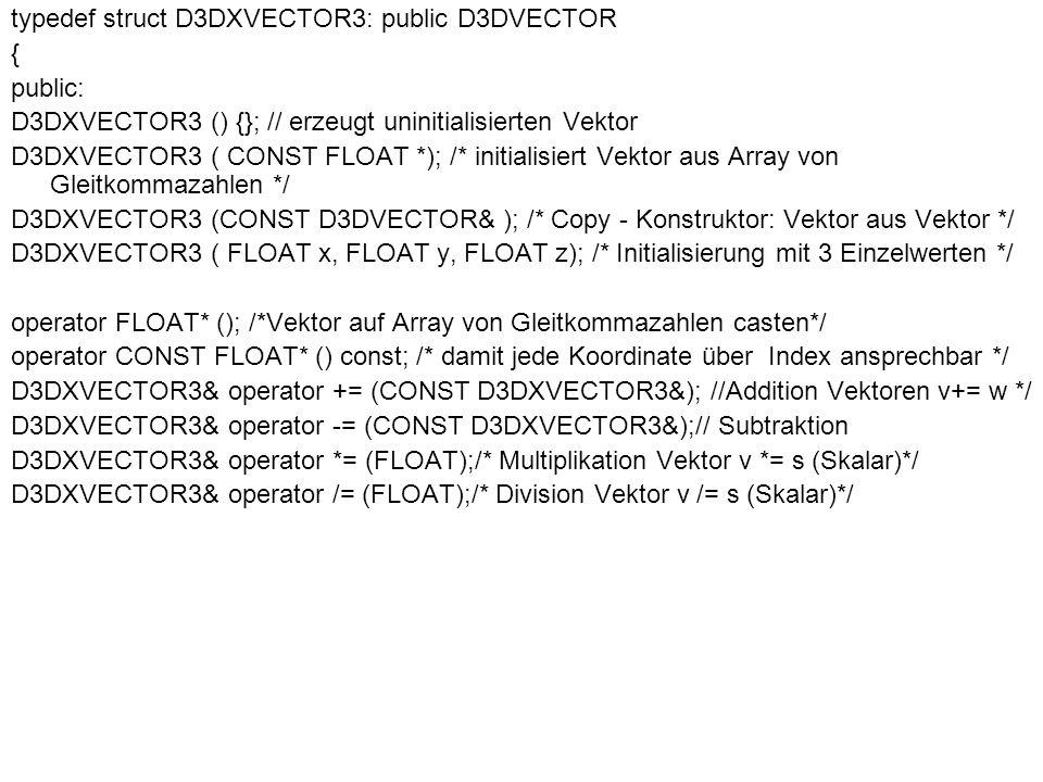 typedef struct D3DXVECTOR3: public D3DVECTOR