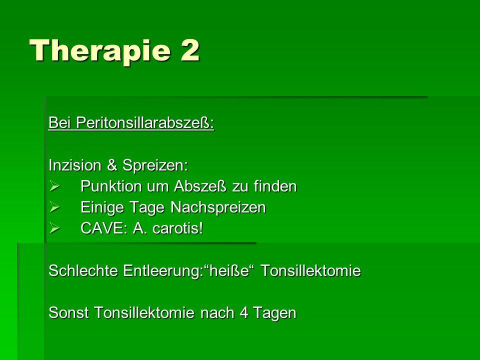 Therapie 2 Bei Peritonsillarabszeß: Inzision & Spreizen:
