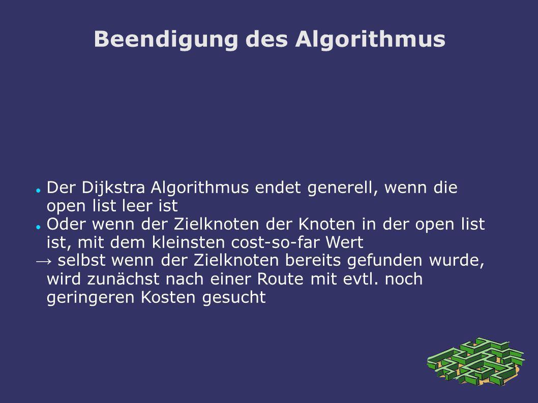 Beendigung des Algorithmus