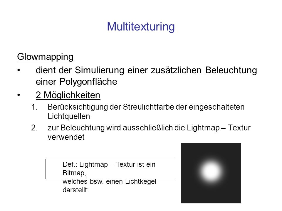 Multitexturing Glowmapping
