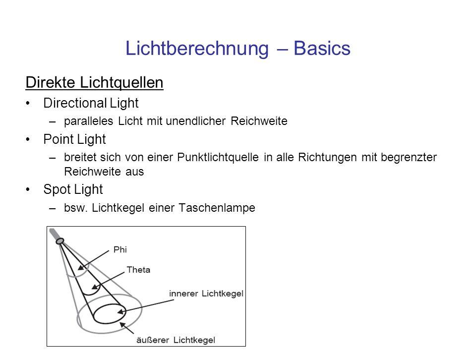 Lichtberechnung – Basics